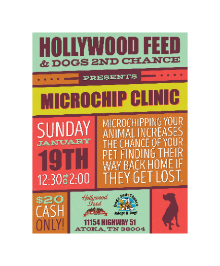 MICROCHIP HOLLYWOOD FEED SUN JAN 19 2020 12:30PM-2PM