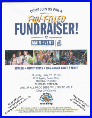 Main Event Fundraiser July 21 2019