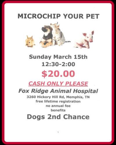 Microchip Clinic Sun. Mar 15