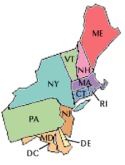 We adopt to Pennsylvania, New York, Vermont, New Hampshire, Massachusetts, Connecticut, Rhode Island, Delaware, Maryland, New Hampshire and Maine