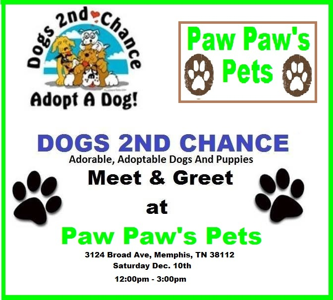 Dec 10th Meet and Greet at Paw Paws Pets