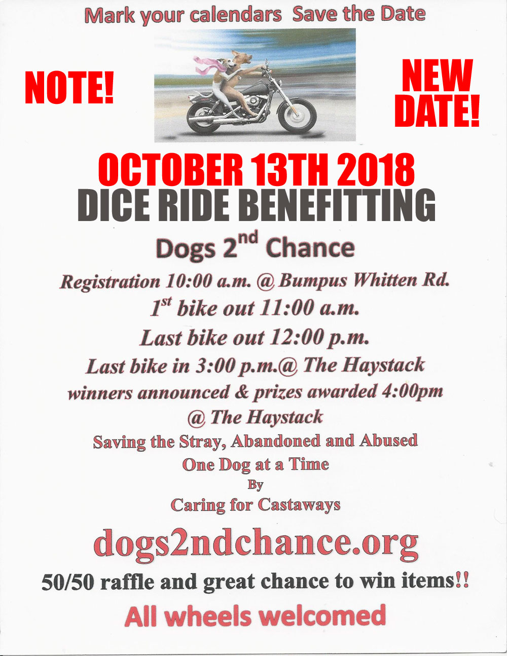 Ride Roll Fundraiser 2018 New Date