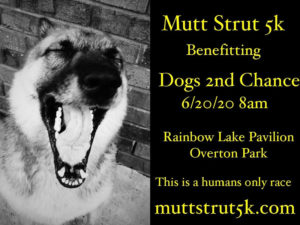 Save the date Mutt Strut 5k 2020