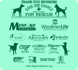 Thank You Dogs 2nd Chance Sponsors