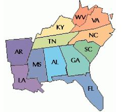 We adopt dogs to Florida, Georgia, Alabama, Mississippi, Louisiana, Arkansas, Tennessee, Kentucy, West Virgina, Virginia, North Carolina and South Carolina